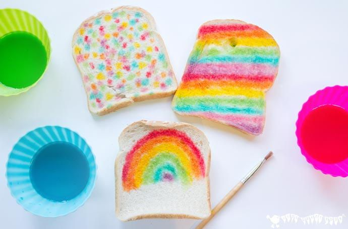 Edible Bread Painting Activity   Make meal time mesh with craft time.