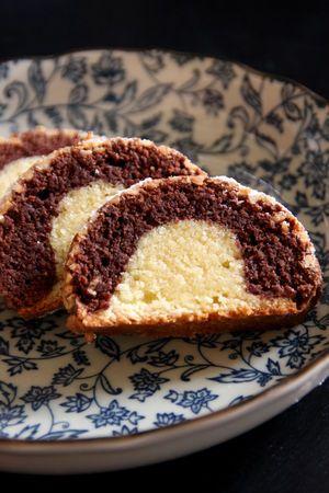 Le gâteau bicolore des dimanches matins chez Mamie J.
