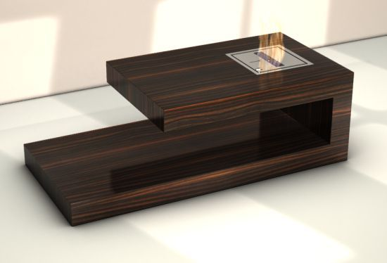 This coffee table is something so cool with the fire, it's like nothing I have ever seen before