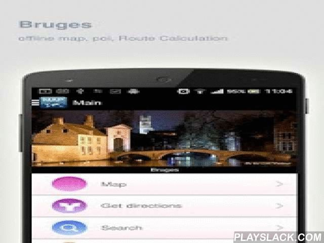 Bruges Map Offline  Android App - playslack.com ,  Bruges (Belgium) Map offline - is an application that allows you to view online and offline Bruges map in yourmobile phone. 2 types of maps are attached in application: 1st map: Offline map. You can download it in Wi-fi service area and use without Internet.2nd Map: Online map. Allows you to search for addresses, save points on the map. Map access is free of charge.Application functions are available: 1. Add any objects to your favorites. 2…