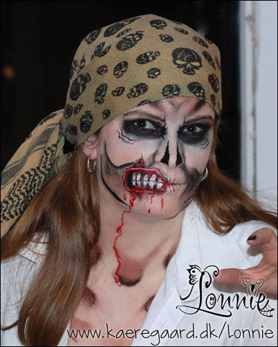 Zombie me as zombie pirate face paint inspiration for Cheap face painting houston