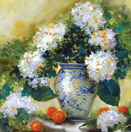 Blog Talk Radio and Hydrangea Queens in New Orleans ~ Nancy Medina Art ~ Painting Classes and Workshops