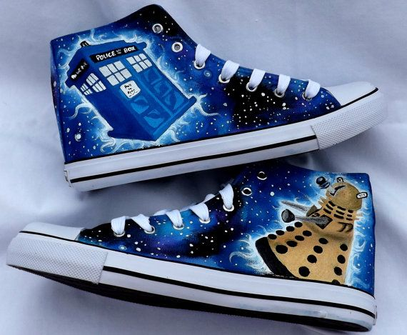 Doctor Who Shoes by SatansSlippers on Etsy, £40.00 :0. I. NEED. THESE. AND NOONE WILL STOP ME