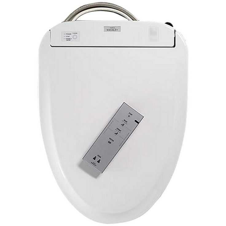 Toto SW574 S300E Elongated Closed Front Toilet Seat with Lid and Washlet® with e
