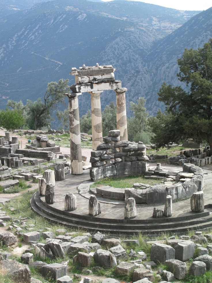The Temple of Delphi - Greece I need to go here someday. This is where Ancient Greeks went to Talk to the Greek Gods and Goddesses