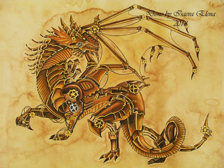 299 best Dragon Mechanical / SteamPunk Art images on ...