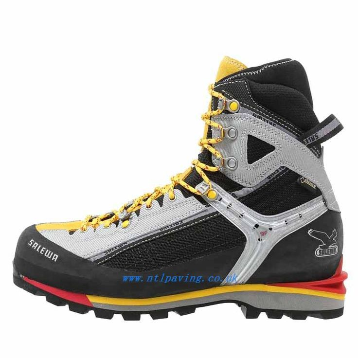 RAVEN COMBI GT παπούτσια Αναρρίχηση μαύρο-κίτρινο - Ανδρικά παπούτσια πεζοπορίας - Salewa Παπούτσια