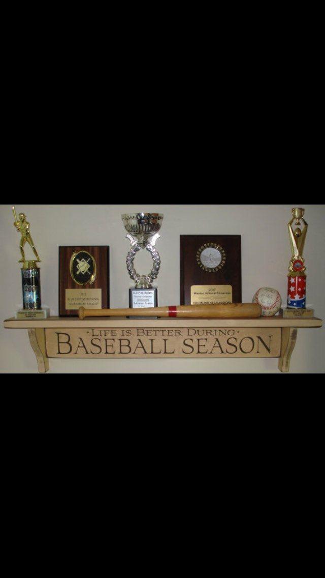Trophy Shelf,Baseball Shelf,Baseball Trophy Shelf,Baseball Decor,Baseball…
