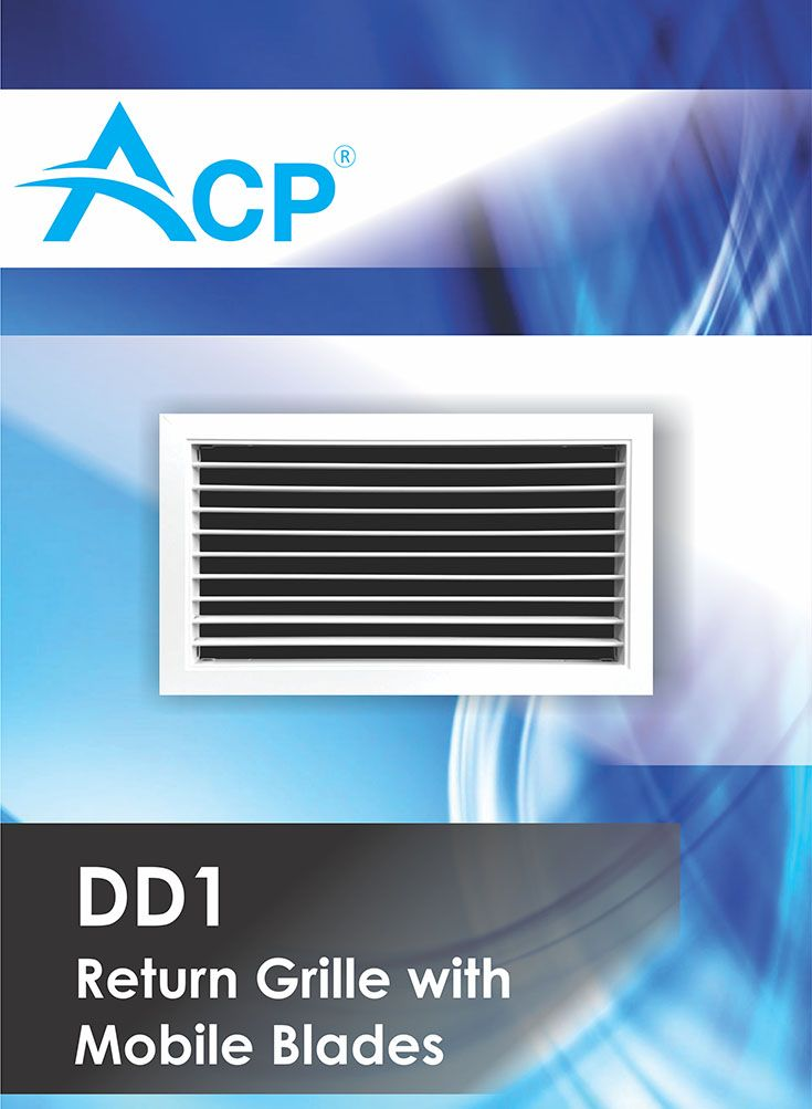 Return grille with mobile blades (Grila aspiratie lamele mobile DD1)   | #hvac | #acp | #manufacturer | #ventilation | #products | #romania