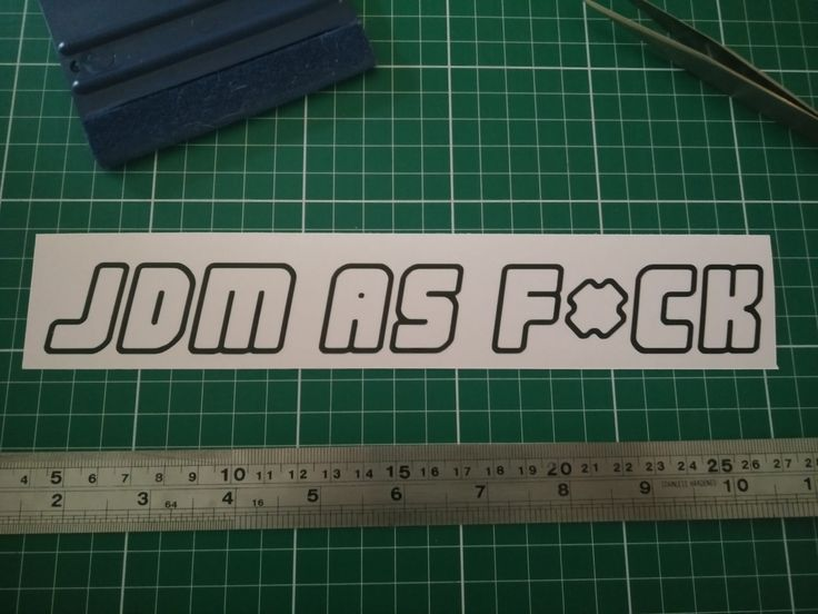 JDM as F*CK Sticker Vinyl Decal - Show off your love of all things JDM! by StickerBot on Etsy