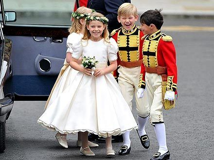 """"""" Prince William and bride Kate Middleton weren't the only ones able to enjoy the stylish pomp and pageantry of the royal wedding. Mini attendants — Hon. Margarita Armstrong-Jones, 8, Tom Pettifer, 8, Lady Louise Windsor, 7, Master William..."""