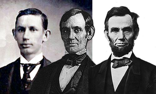 Abraham Lincoln through the years. (?)