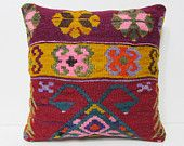 20x20 kilim pillow antique wool pillow cover 20x20 throw pillow red modern cushion cover large cushion cover couch pillow kilim pillow 26727