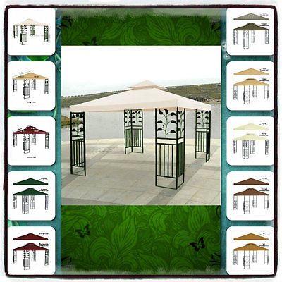 Gazebo Pergola Replacement Patio Gazebos Canopy Outdoor Metal Tent Garden Cover