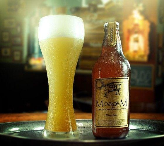 Cerveja Moagem Weissbier, estilo German Weizen, produzida por  Cervejaria Caseira, Brasil. 5% ABV de álcool.