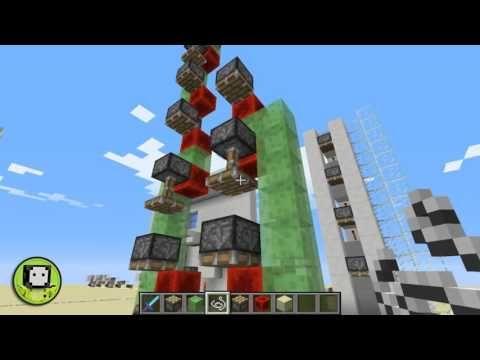 Minecraft   Elevador con pistones super compacto (2 x 2 bloques) versión 1.9.2 - YouTube