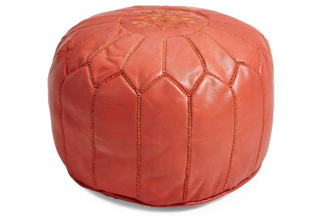 moroccan leather pouf | one kings lane.