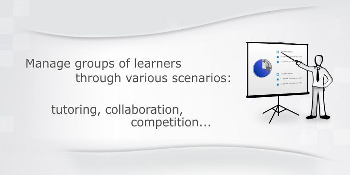 Dokeos lms:Manage groups of learners through various scenarios - opensource and pro