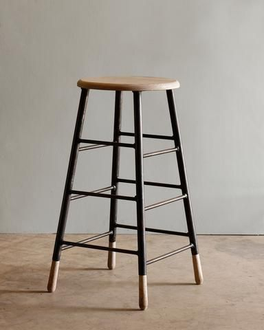Lostine Gordon Ladder Stool White Oak And Iron Modern