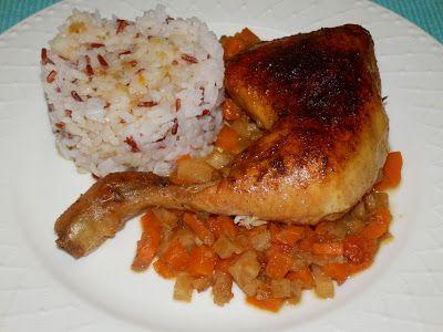 MAKE-FOOD: Kuřecí stehna s kořenovou zeleninou