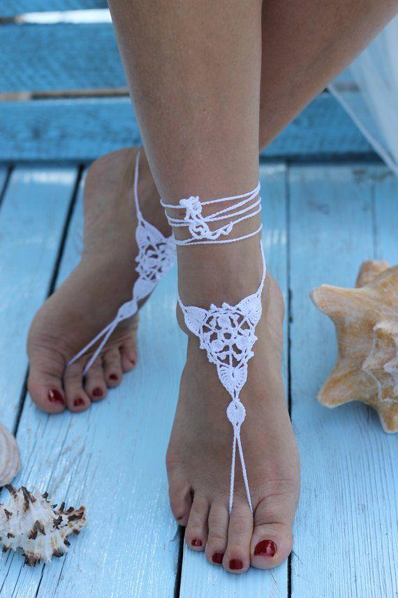 25b0dff23 Beach Barefoot Sandals Bridesmaid gift Barefoot Sandals Wedding ...