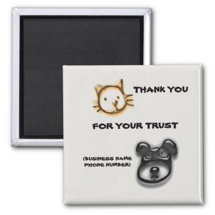 Animal Clinic Vet Hospital Thank You Promotional Magnet - home gifts ideas decor special unique custom individual customized individualized