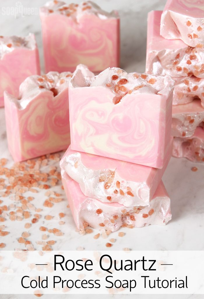 Rose Quartz Cold Process Soap Tutorial