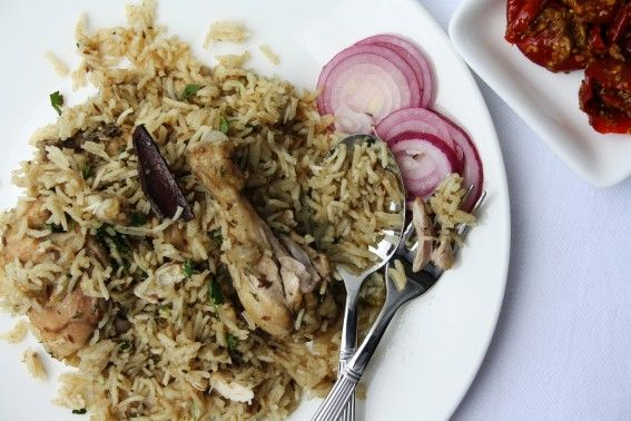 Easy Indian Chicken Pulao with cardamom, cloves and basmati rice