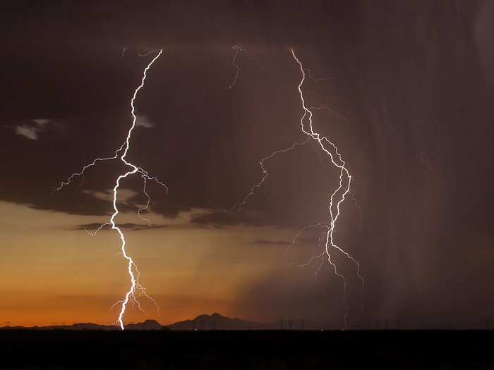 Best Surprise Arizona Images On Pinterest Surprise Arizona - A lightning storm synchronised with dramatic music