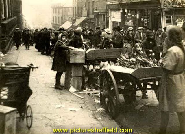 Street traders in Shude Hill and Dixon Lane