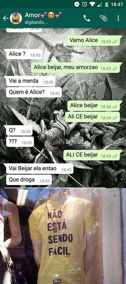 Amor vamos Alice beijar