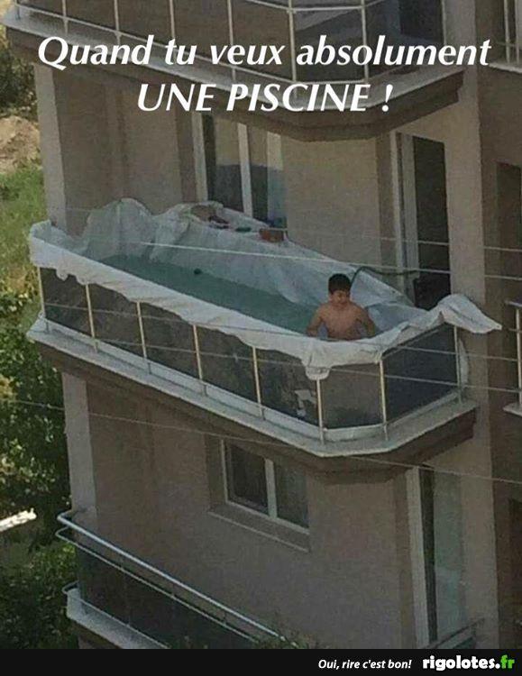 une piscine!