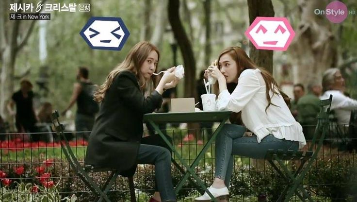 Jung sisters Jessica and Krystal enjoy their time in New York City | http://www.allkpop.com/article/2014/06/jung-sisters-jessica-and-krystal-enjoy-their-time-in-new-york-city