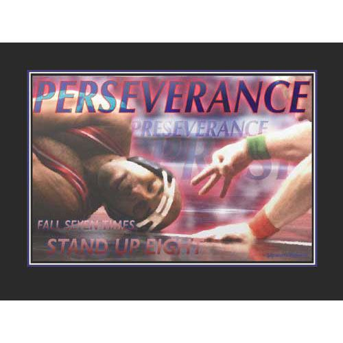 Persistence Motivational Quotes: Perseverance Wrestling Poster By