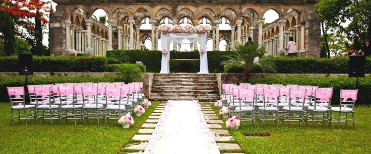 Your pick of spectacular venues for your Bahamas wedding ceremony and reception in Nassau, Paradise Island, Grand Bahama and the Out Islands of the Bahamas. - Cloisters Paradise island wedding venue picture courtesy of One & Only Ocean Club - http://www.bahamas-destination-wedding.com/bahamas-wedding-venues/