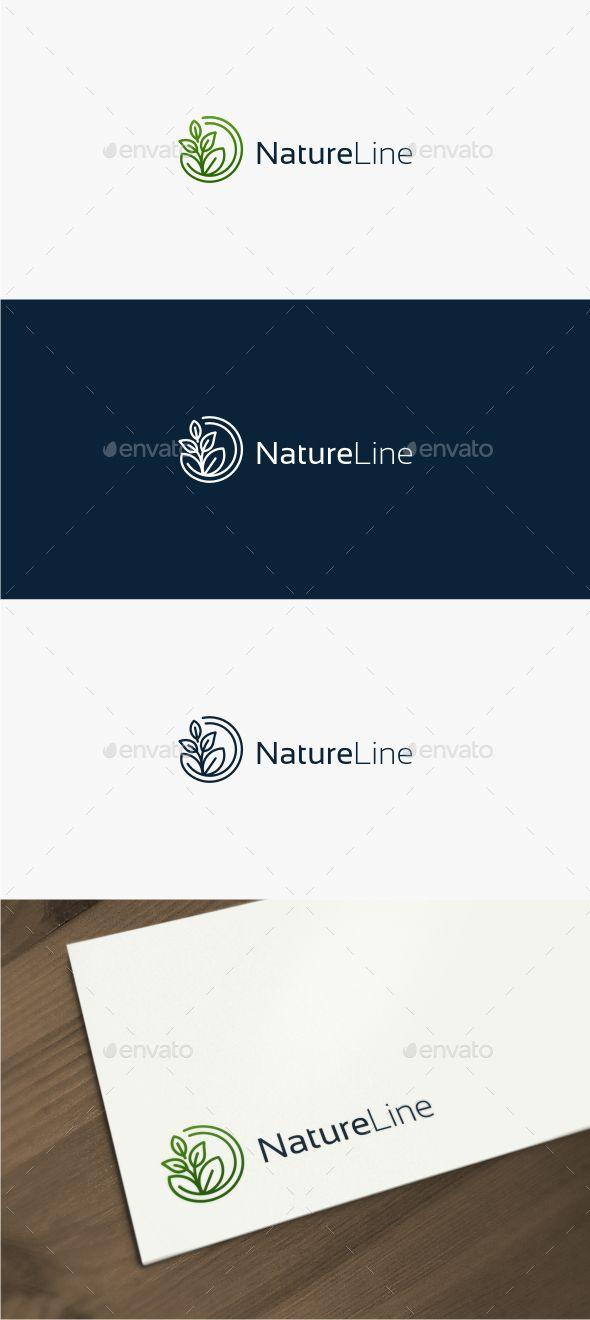 Nature Line Logo Template Vector EPS, AI Illustrator. Download here: https://graphicriver.net/item/nature-line-logo/17563928?ref=ksioks