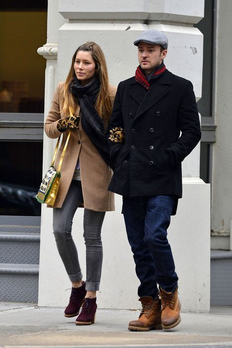 Justin Timberlake and Jessica Biel have a lunch date at Butchers Daughter in New York City