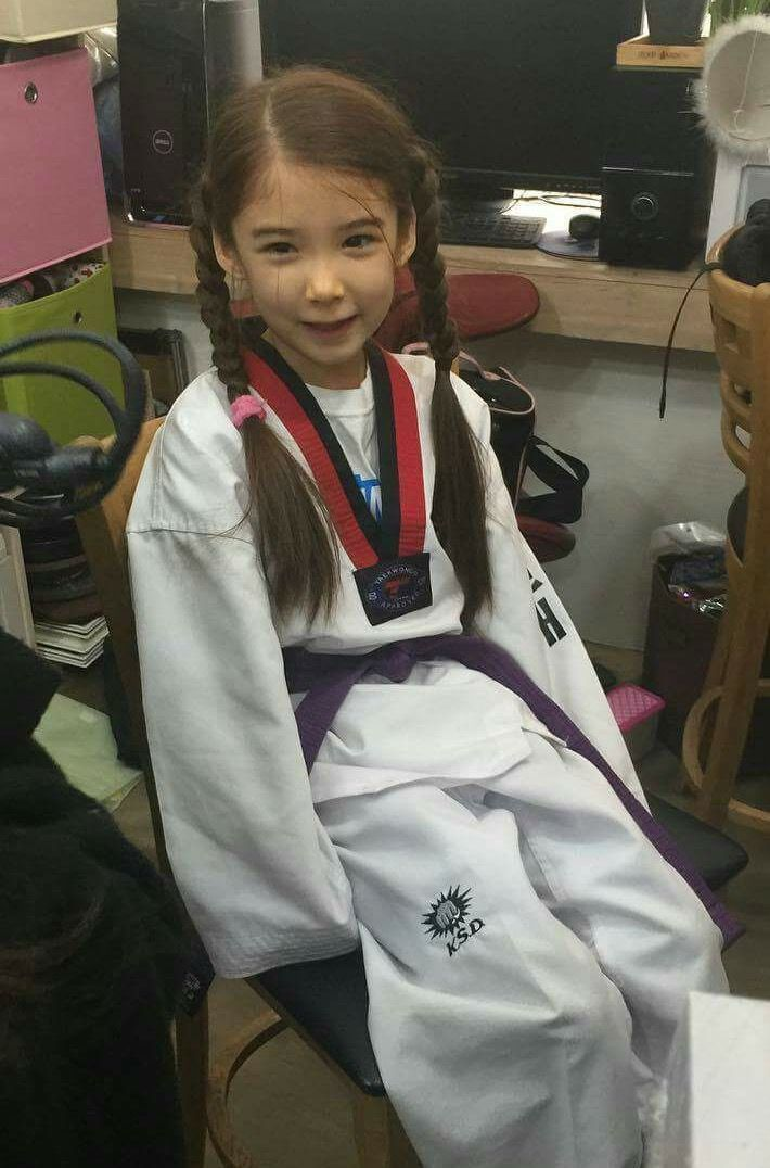 Lauren does Taekwondo every day and loves it