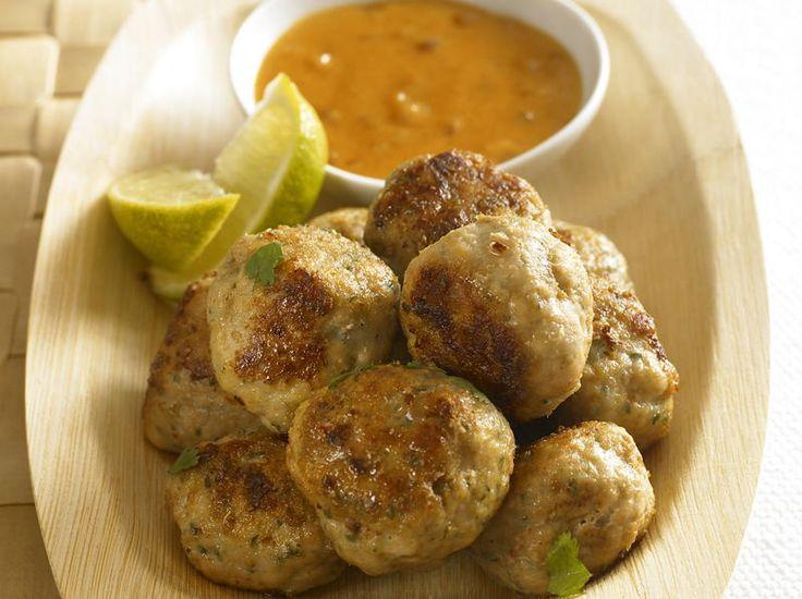 Asian Meatballs with Peanut Sauce | Cookstr.com