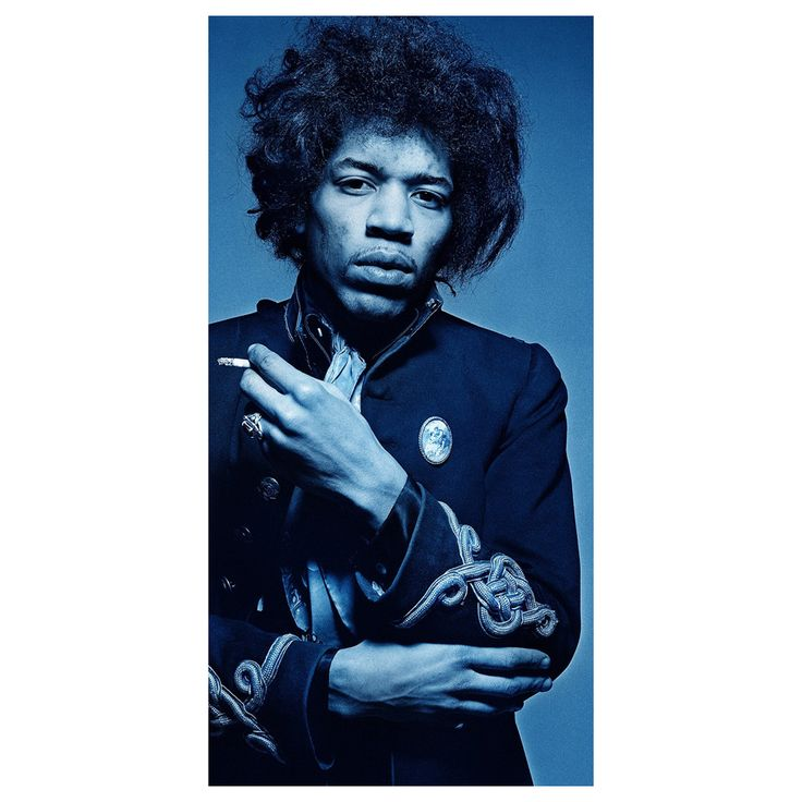 """Gered Mankowitz Photograph """"Jimi Blue Smoke,"""" Edition of One 