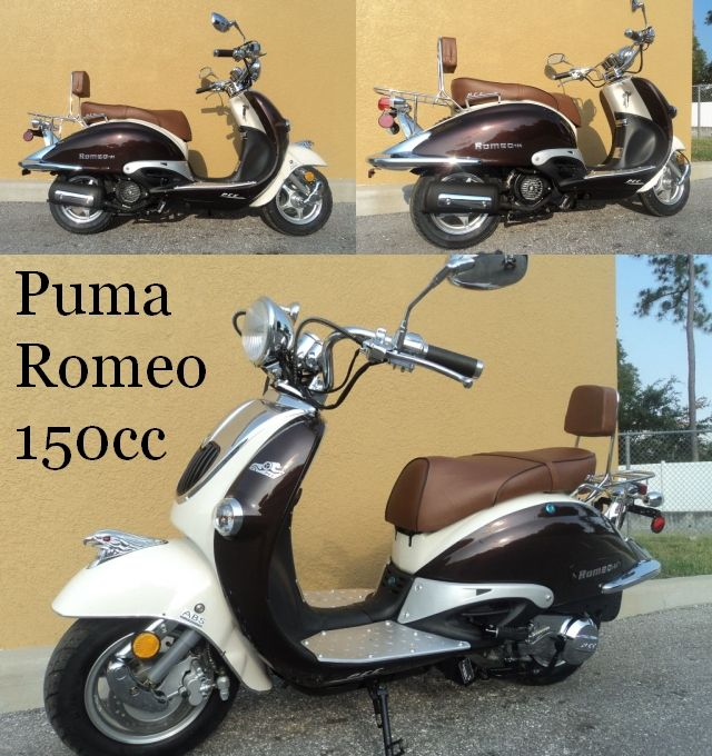 125cc Atv For Sale >> Puma Romeo 150cc Scooter | Scooters | 150cc scooter, Motorcycle, Bike