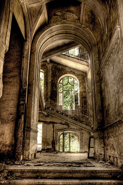 """An abandoned church from the series """"Urban Decay"""", photographed by Alecu Grigore"""