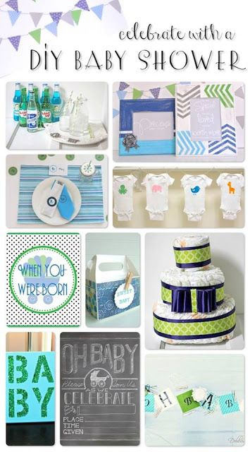 DIY Baby Shower Decorations -- a virtual SURPRISE baby shower!