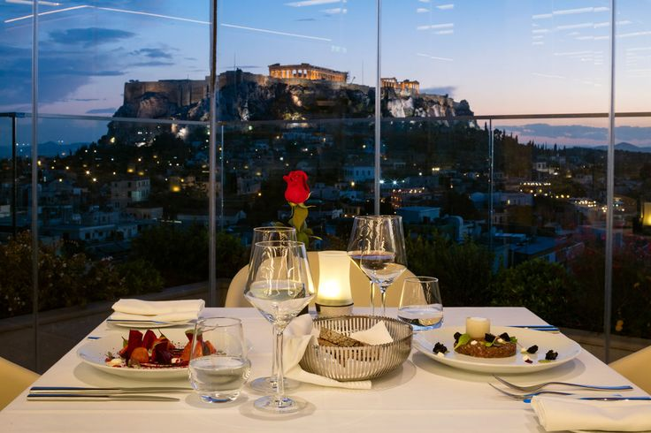 Dinner at Metropolis Roof Garden - Electra Metropolis Athens.