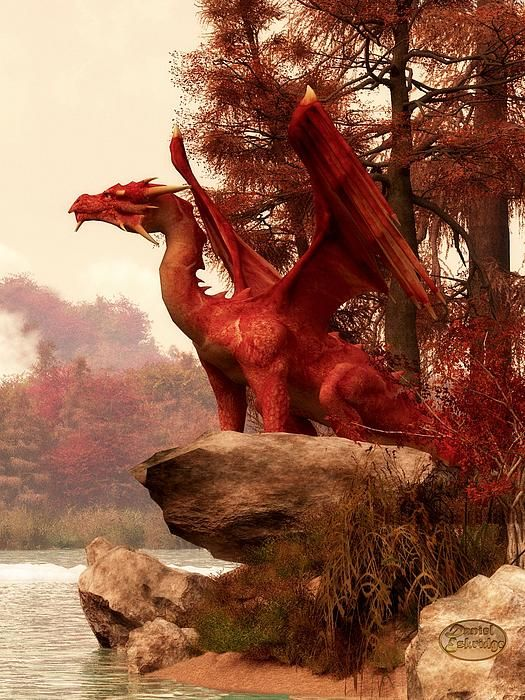 Thanksgiving-Red Dragon in Autumn by Daniel Eskridge