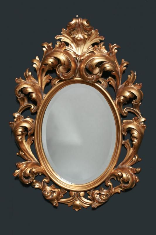 French antique oval mirror