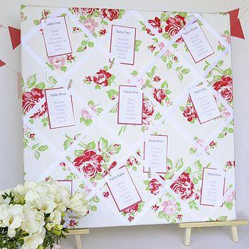 """Tischplan für Gäste  """"Roses"""" von Herzblut-Werkstatt auf DaWanda.com"""