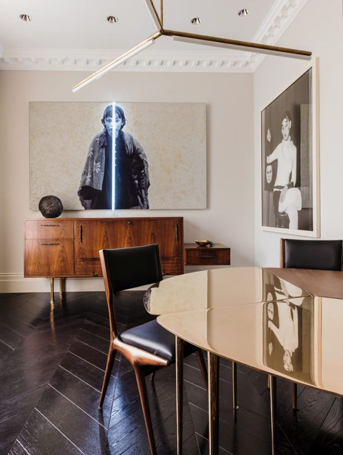 I could not be more enthralled with this home in Chelsea (London) home designed by Shalini Misr...