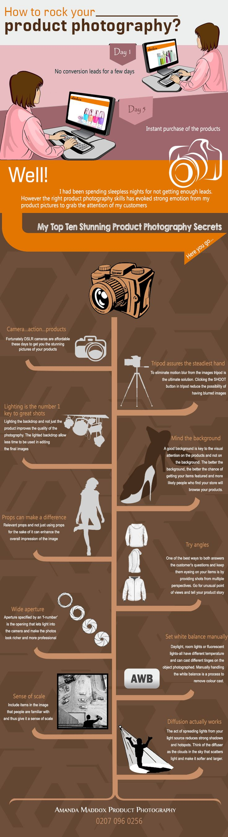 How To Rock Your Product Photography?   #Infographic #Photography #HowTo