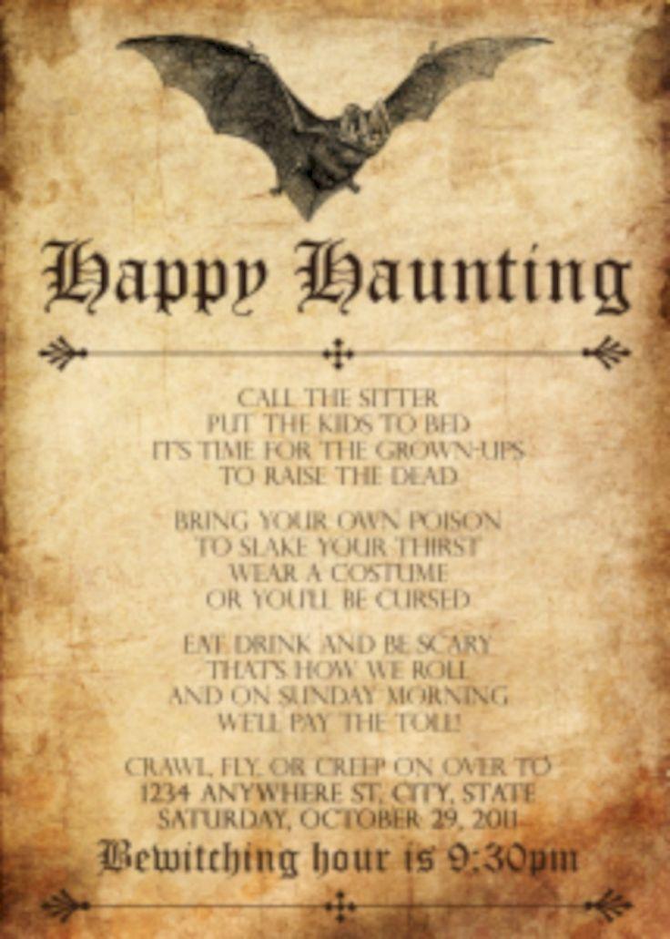 wedding invitations wording quotes%0A    Creative DIY Halloween Wedding Invitations Ideas